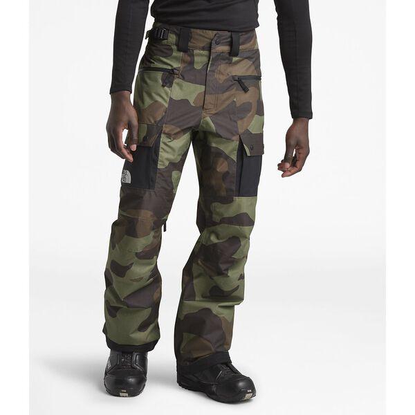 Men's Slashback Cargo Ski Pants, FOUR LEAF CLOVER TERRA CAMO PRINT/TNF BLACK, hi-res