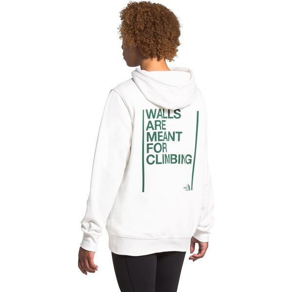 Unisex Walls Are Meant For Climbing Pullover Hoodie, TNF WHITE, hi-res