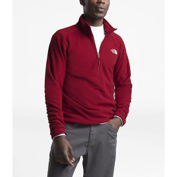 Men's Textured Cap Rock ¼ Zip, CARDINAL RED, hi-res