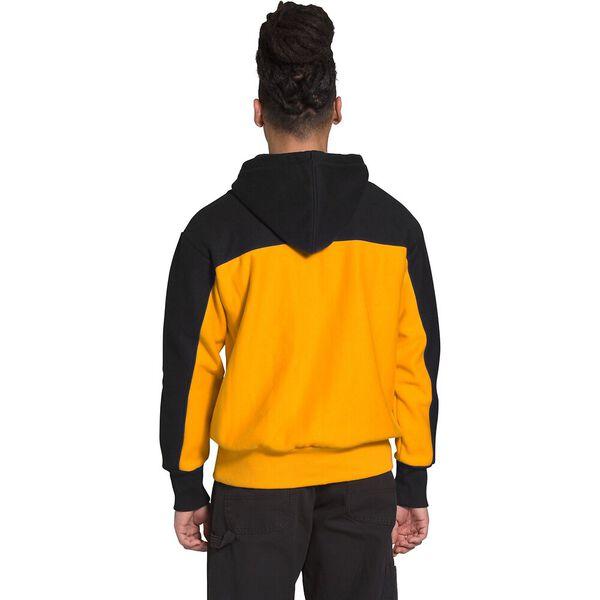 Men's Heavyweight Reverse-Weave Pullover Hoodie, TNF BLACK/SUMMIT GOLD, hi-res