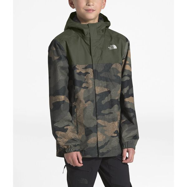 Boys' Resolve Reflective Jacket, BRITISH KHAKI WAXED CAMO PRINT, hi-res