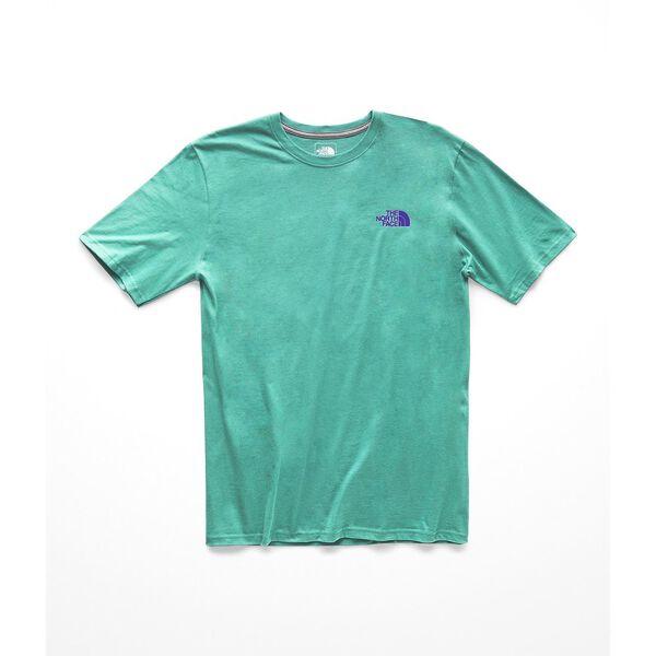 MEN'S SHORT-SLEEVE RED BOX TEE, PORCELAIN GREEN/DEEP BLUE, hi-res
