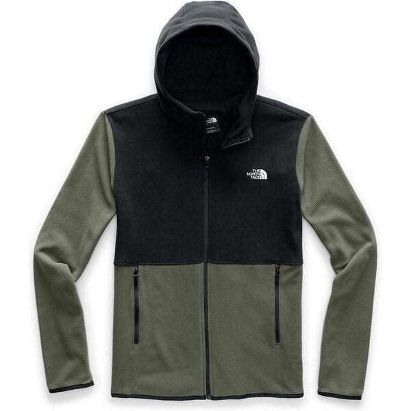 Men's TKA Glacier Hooded Fleece, NEW TAUPE GREEN/TNF BLACK, hi-res