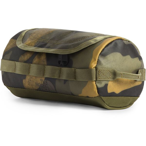 BASE CAMP TRAVEL CANISTER- S, BURNT OLIVE GREEN WAXED CAMO PRINT/BURNT OLIVE GREEN, hi-res