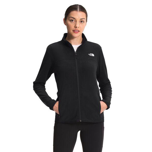 Women's TKA Glacier Fleece Full Zip Jacket, TNF BLACK, hi-res