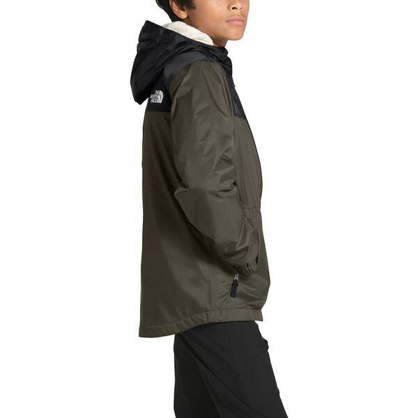 Boys' Warm Storm Rain Jacket, NEW TAUPE GREEN, hi-res