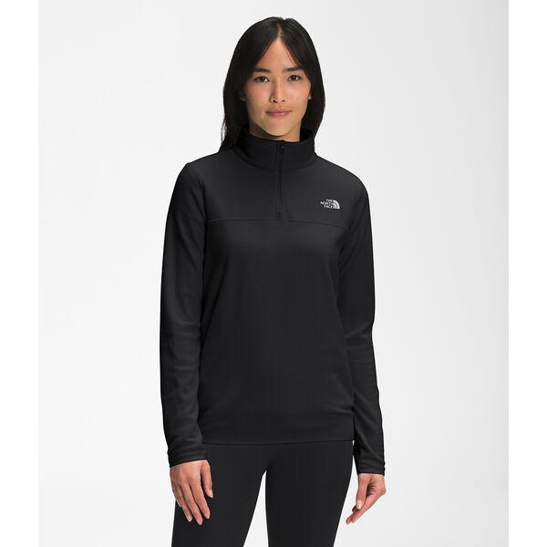 Women's TKA Glacier Fleece ¼ Zip, TNF BLACK, hi-res