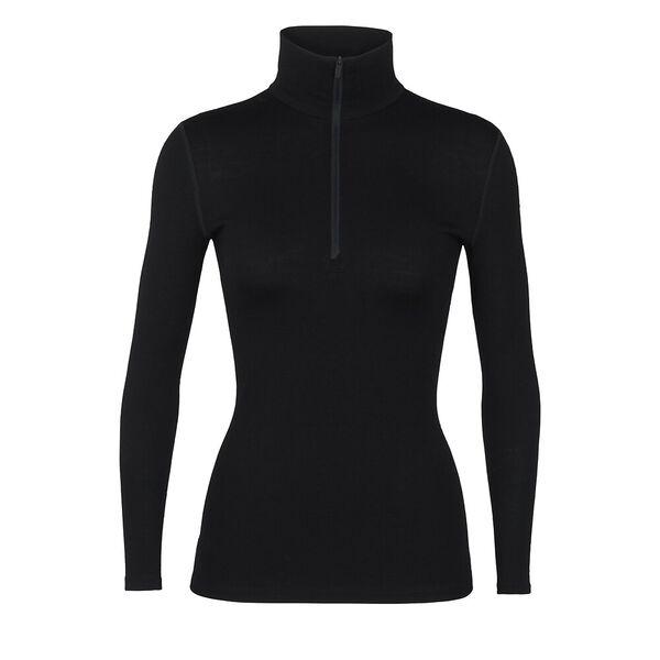 Icebreaker Women's 260 Tech Long-Sleeve Half Zip, BLACK, hi-res