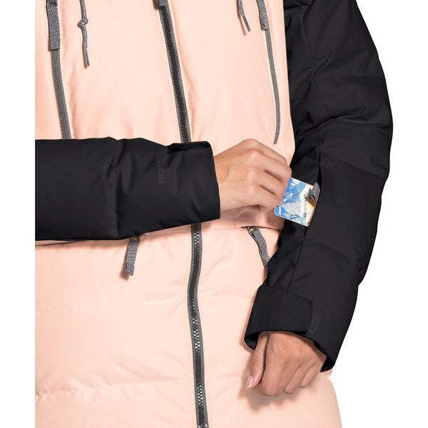 Women's Pallie Down Jacket, TNF BLACK/MORNING PINK, hi-res