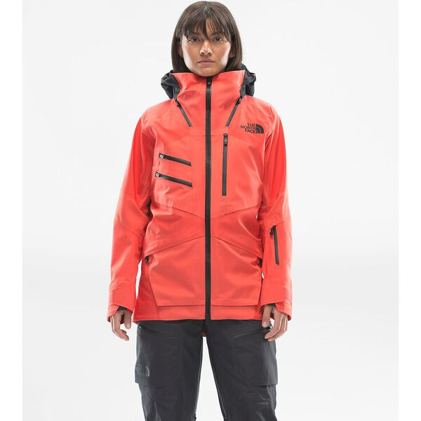 Women's Brigandine FUTURELIGHT™ Jacket, RADIANT ORANGE FUSE/WEATHERED BLACK FUSE, hi-res