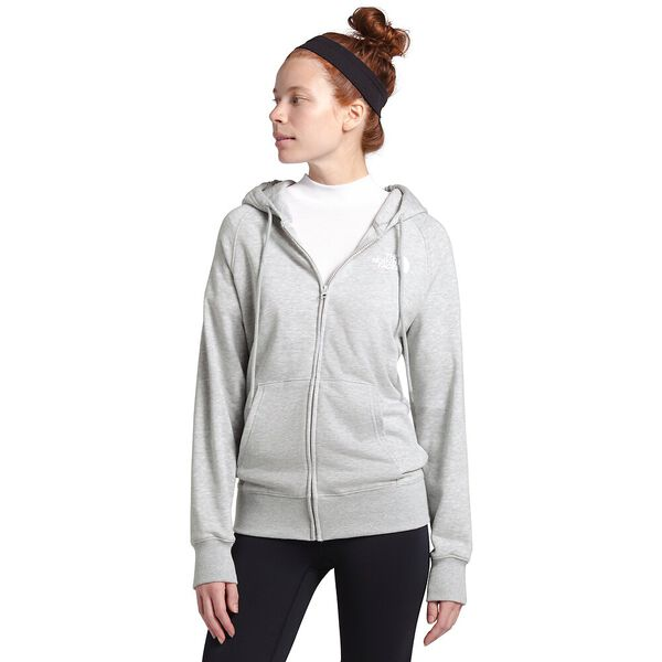 Women's Half Dome Full Zip Hoodie, TNF LIGHT GREY HEATHER, hi-res