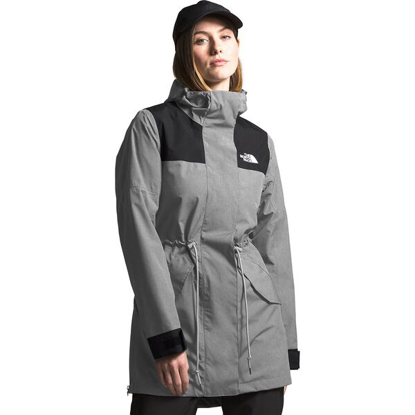 Women's Metroview Trench, TNF MEDIUM GREY HEATHER/TNF BLACK, hi-res