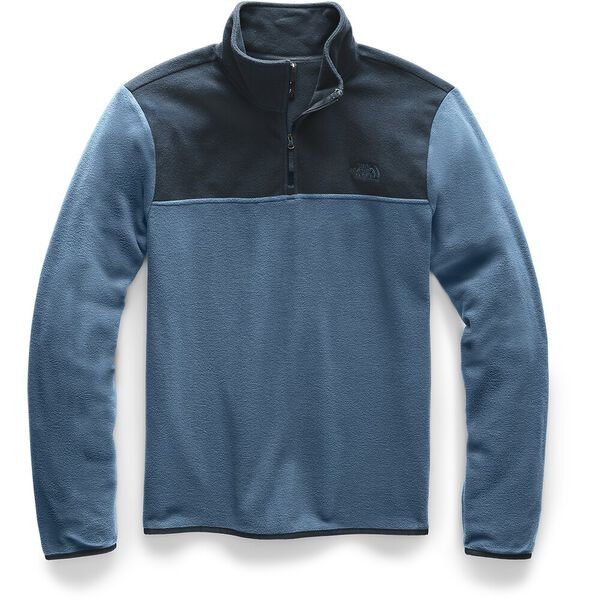MEN'S TKA GLACIER 1/4 ZIP, BLUE WING TEAL/URBAN NAVY, hi-res