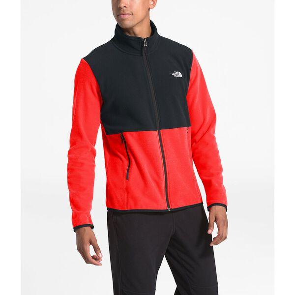 Men's TKA Glacier Fleece Full Zip Jacket, FIERY RED/TNF BLACK, hi-res