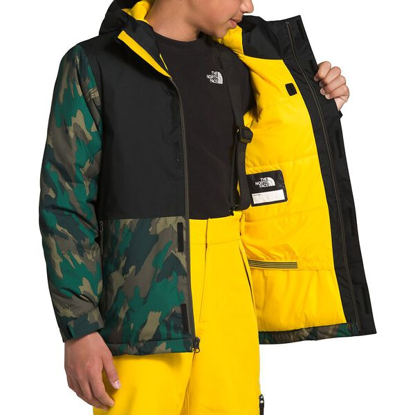Youth Freestyle Insulated Jacket, EVERGREEN MOUNTAIN CAMO PRINT, hi-res