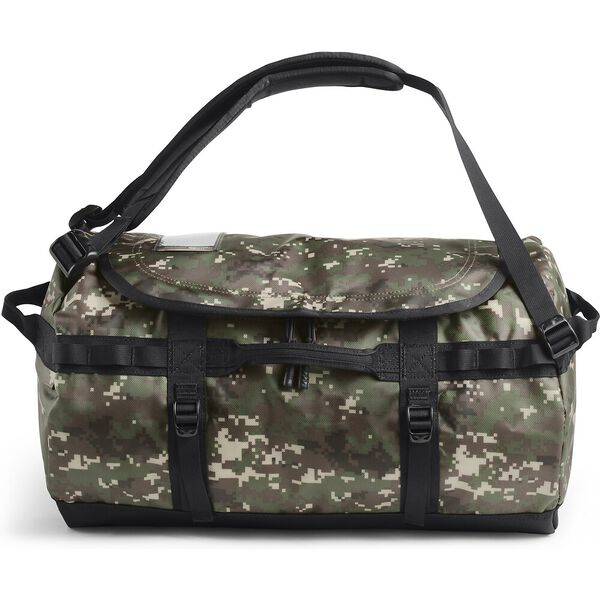Base Camp Duffel - S, BURNT OLIVE GREEN DIGI CAMO/TNF BLACK, hi-res